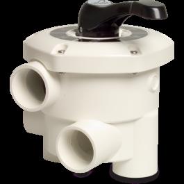 Zawór wieloportowy do filtrów montowany bocznie Mega Premium 6-drogowy