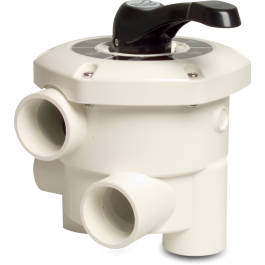 Zawór wieloportowy do filtrów montowany bocznie Mega + 6-drogowy