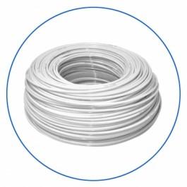 """Biały wężyk polietylenowy 1/4"""", długość 300 m w zwoju (cena za 1 mb.)."""