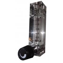 Rotametr z regulacją do powietrza 0,1 - 1,5 l/min