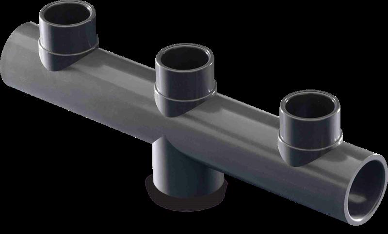 Kolektor d50 mm 63 mm x 40/50 mm x 50 mm