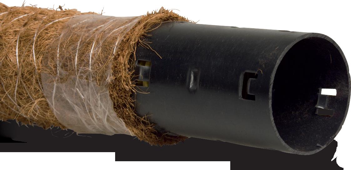 Perferowana rura drenażowa z filtrem spustowym 750g/m2  kokos 65 mm