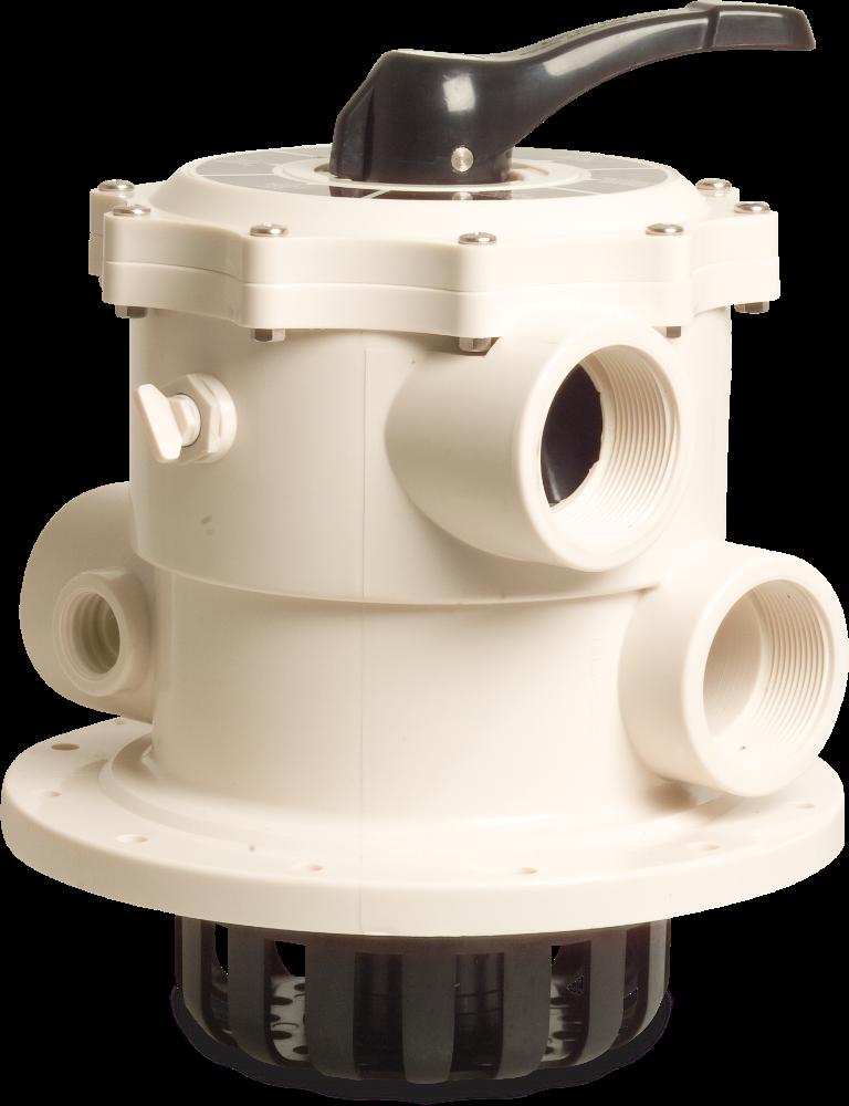 Zawór wieloportowy do filtrów montowany górnie Mega 6-drogowy, skręcany