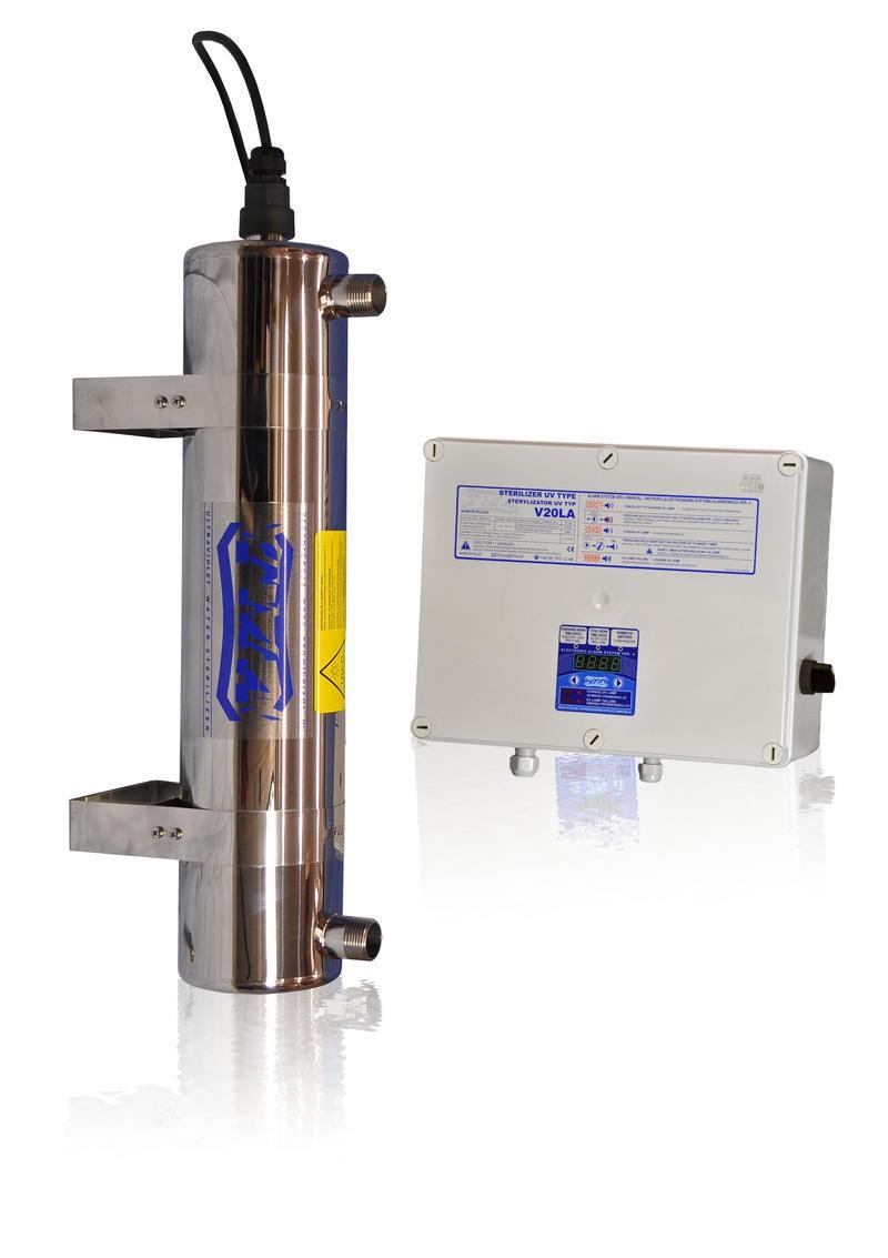 Lampa UV V20LA, przepływ 2,00 m3/h - TMA