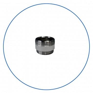 Chromowana mosiezna złączka adaptacyjna, stosowana do połączeń z baterią kuchenną, w przypadku standardowego gwintu wewnętrznego
