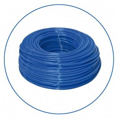 """Niebieski wężyk polietylenowy 1/4"""", długość 300 m w zwoju (cena za 1 mb.)."""