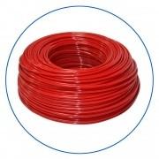 """Czerwony wężyk polietylenowy 1/4"""", długość 300 m w zwoju (cena za 1 mb.)."""