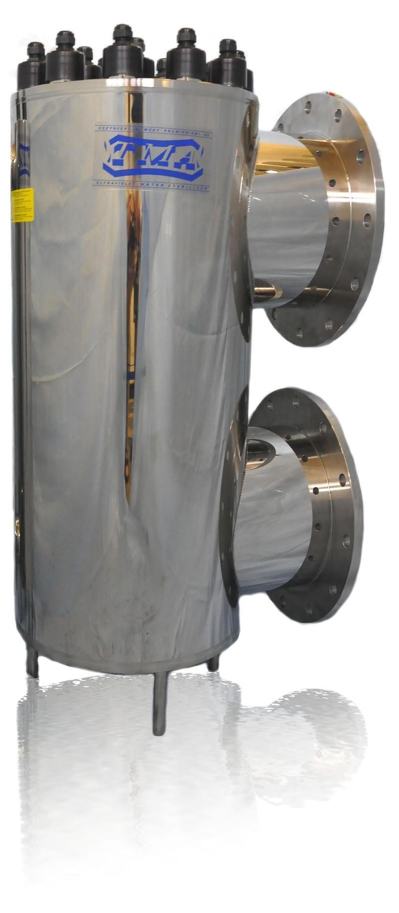 Lampa UV AM30, przepływ 1 100,00 m3/h - TMA