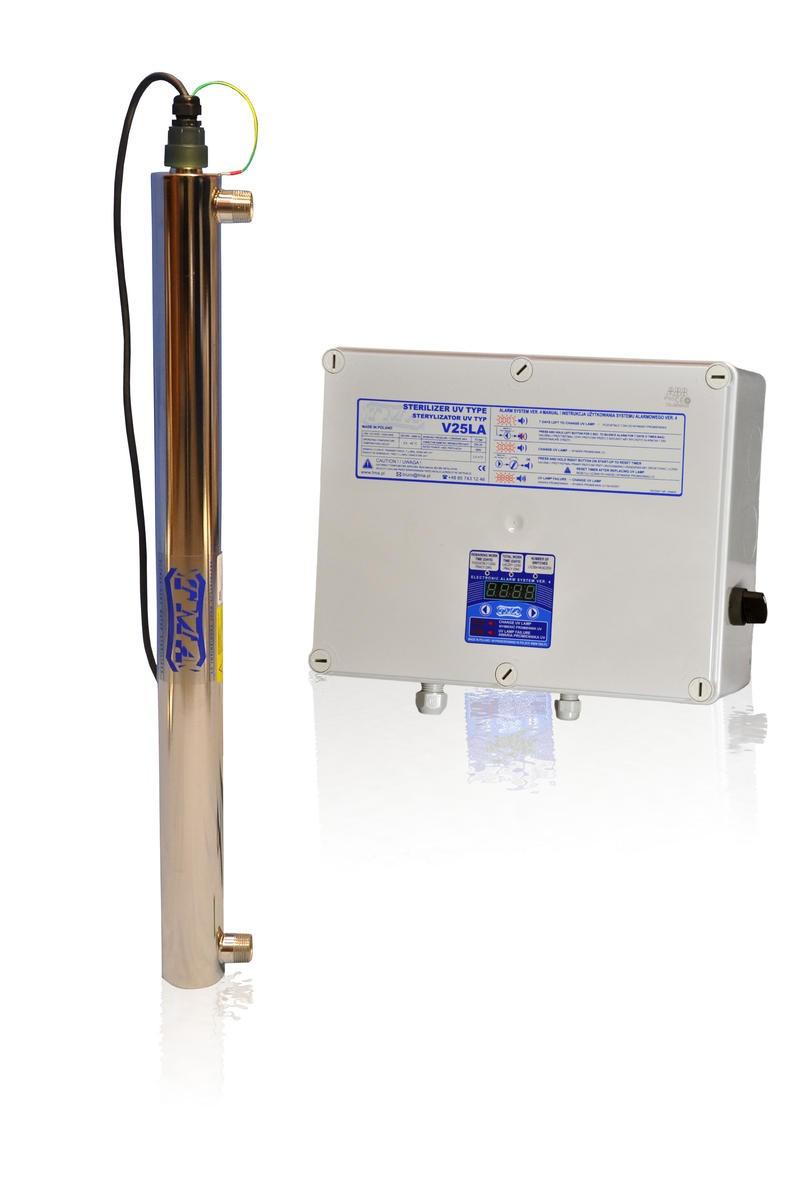 Lampa UV V25LA, przepływ 2,00 m3/h - TMA