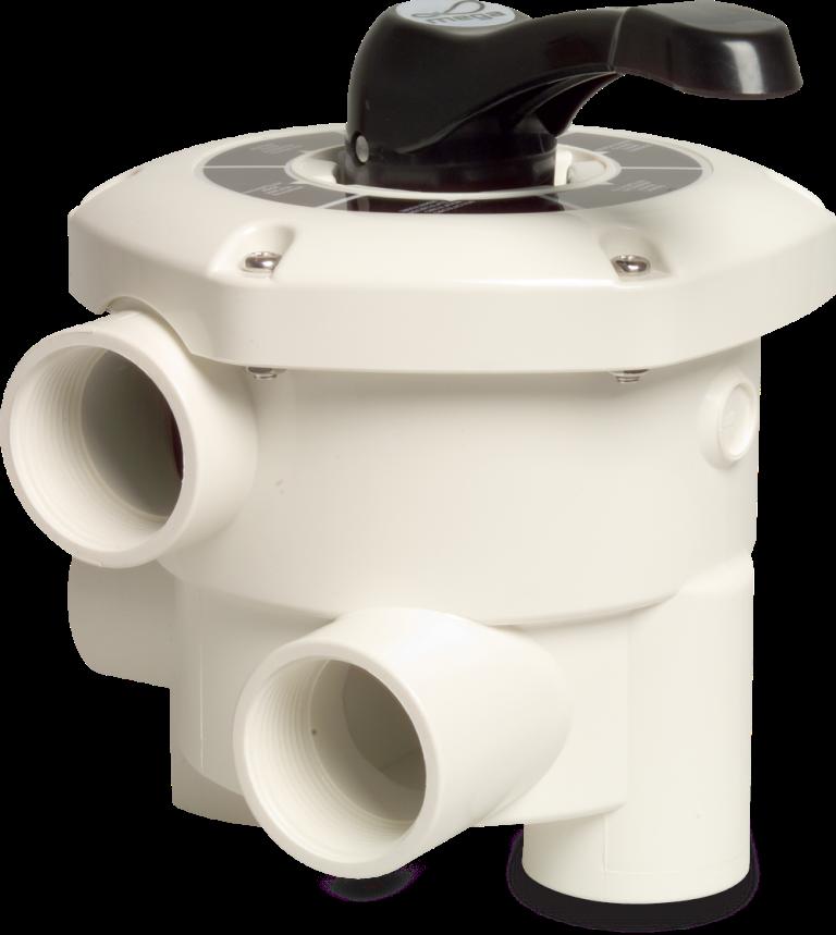 Zawór wieloportowy do filtrów montowany bocznie Praher 6-drogowy