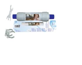 """Filtr do lodówek """"Side by Side"""" montowany na wężyku 1/4"""" (połączenie szybkozłączką QM) - produkt Polski"""