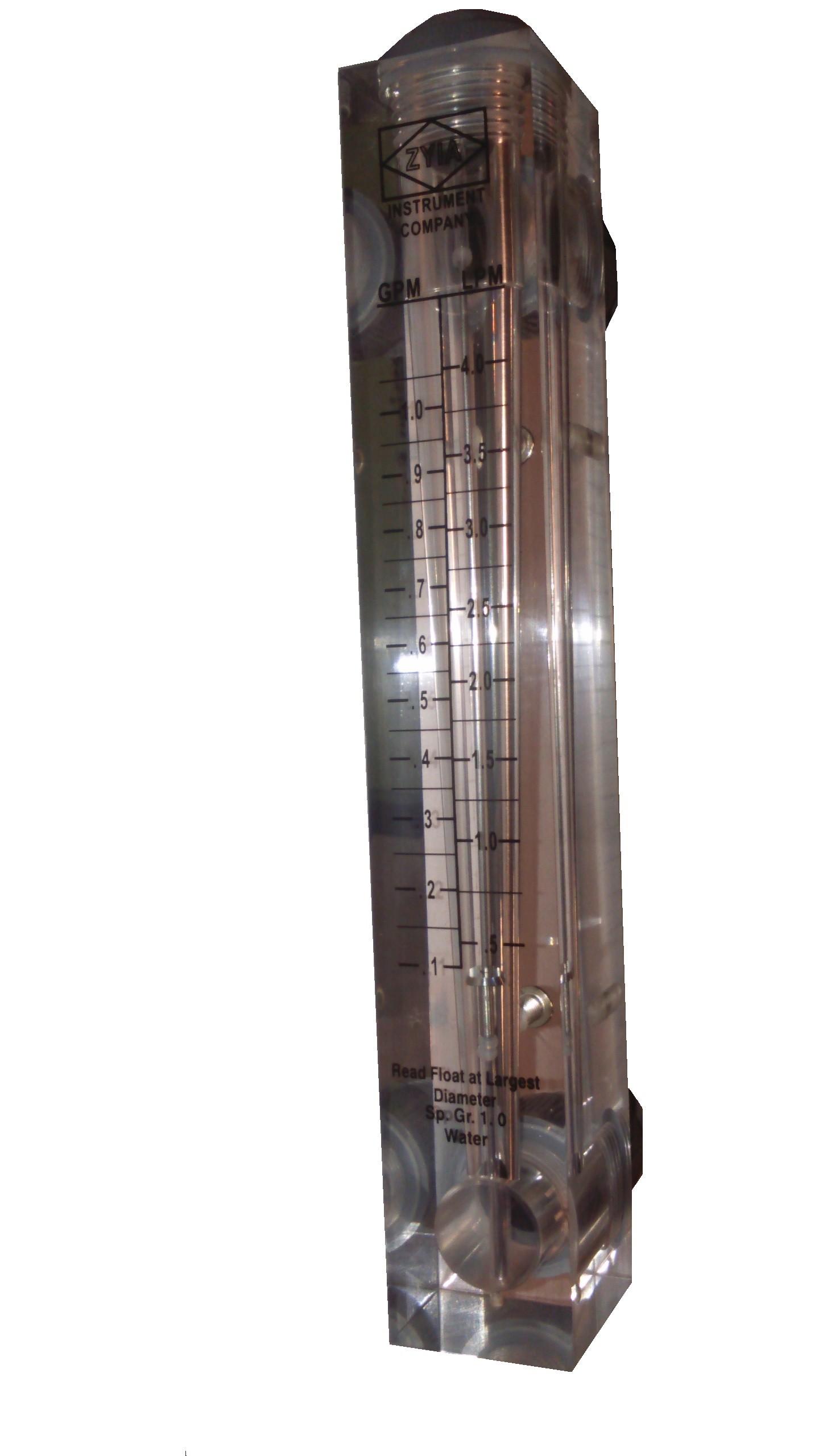 Rotametr bez regulacji do wody 0,1 - 1,0 GPM