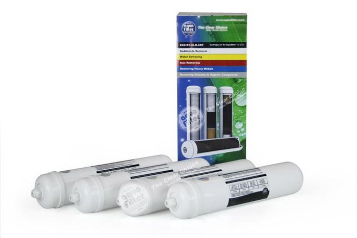 Zestaw wkładów do systemu EXCITO-CLR-CRT (zestaw zaawansowany) do usuwania chloru i twardości wody.
