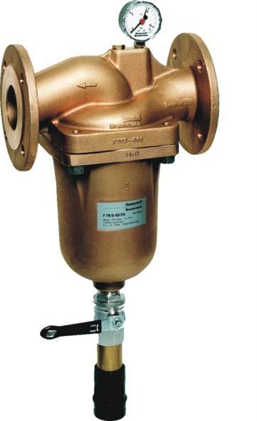 """Filtr kołnierzowy z płukaniem wstecznym Honeywell DN80/3""""; przepływ 56 m3/h; F76S-80FA"""