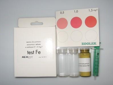 Test żelaza (skala 0 - 1,5 mg)
