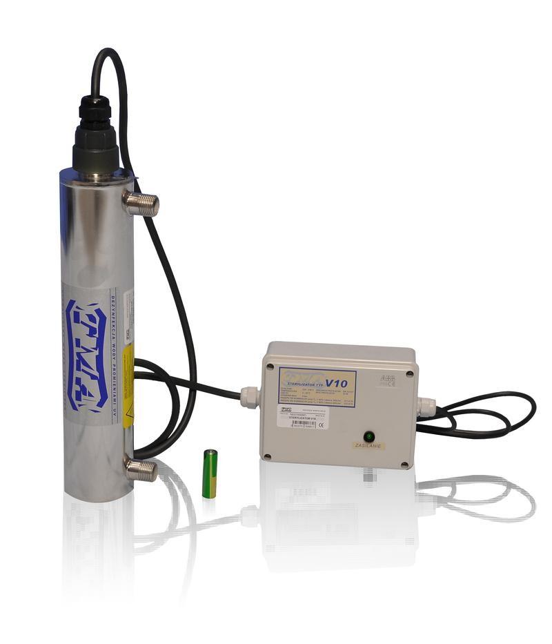 Lampa UV V10, przepływ 0,5m3/h - TMA